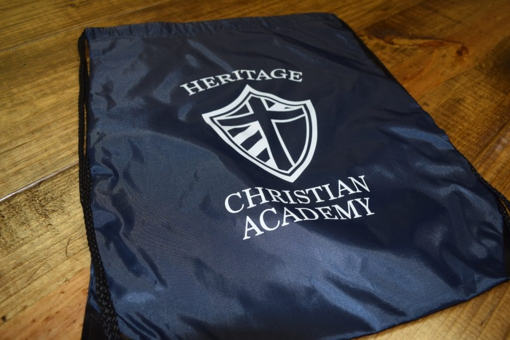 Heritage Christian Academy Logo Backpacks