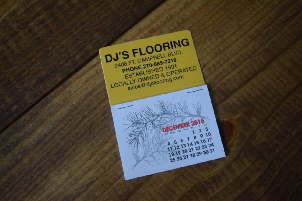 DJ's Flooring Calendar