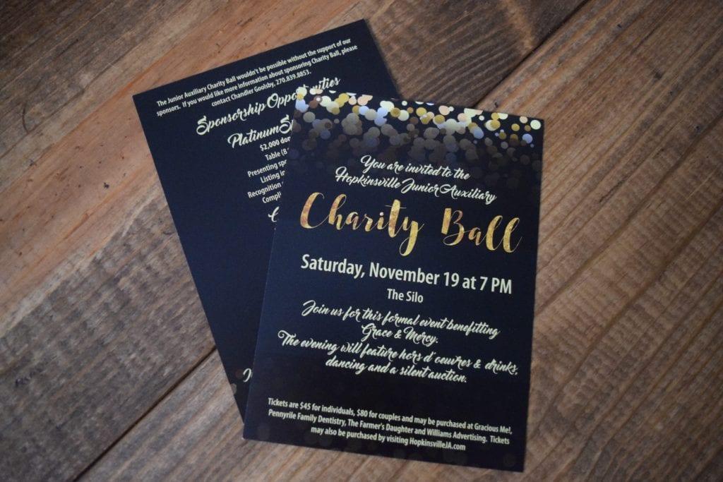Hopkinsville Junior Auxiliary Charity Ball Invitations