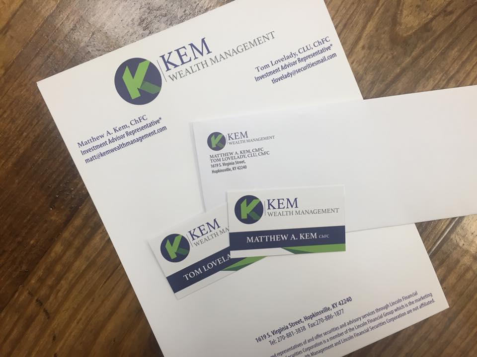 Kem Wealth Management Printed Items