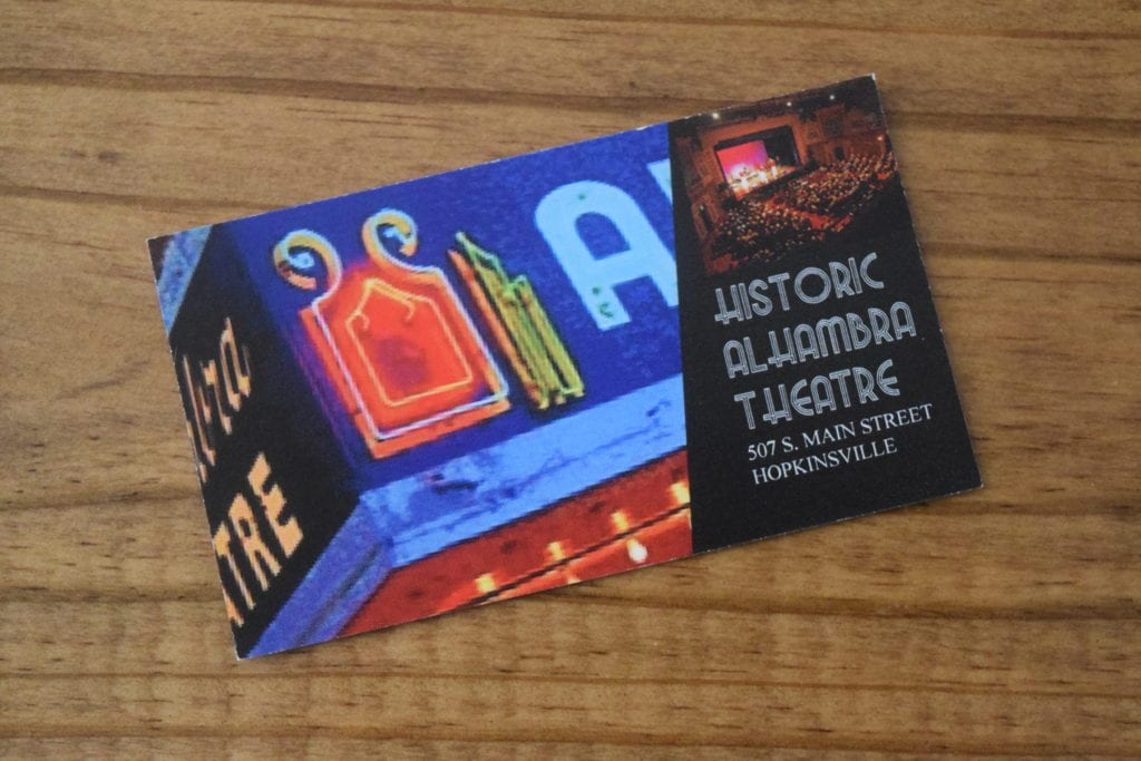 Alhambra Theatre Business Cards