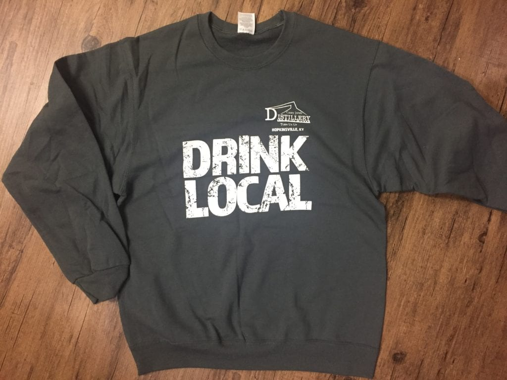 Drink Local Casey Jones Distillery Sweatshirts