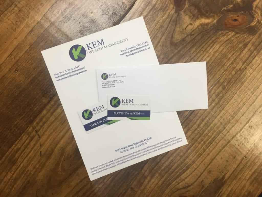 Kem Wealth Management Business Cards
