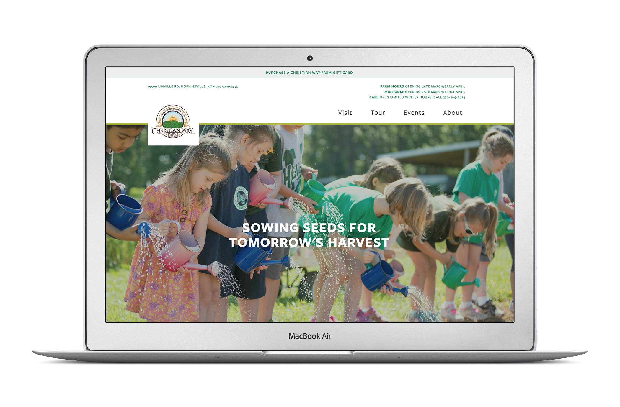 Christian Way Farm Website Design