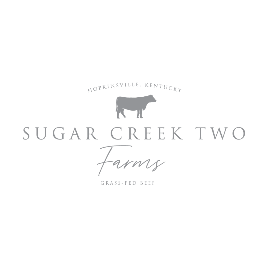 Sugar Creek Two Farms logo design by Williams Advertising