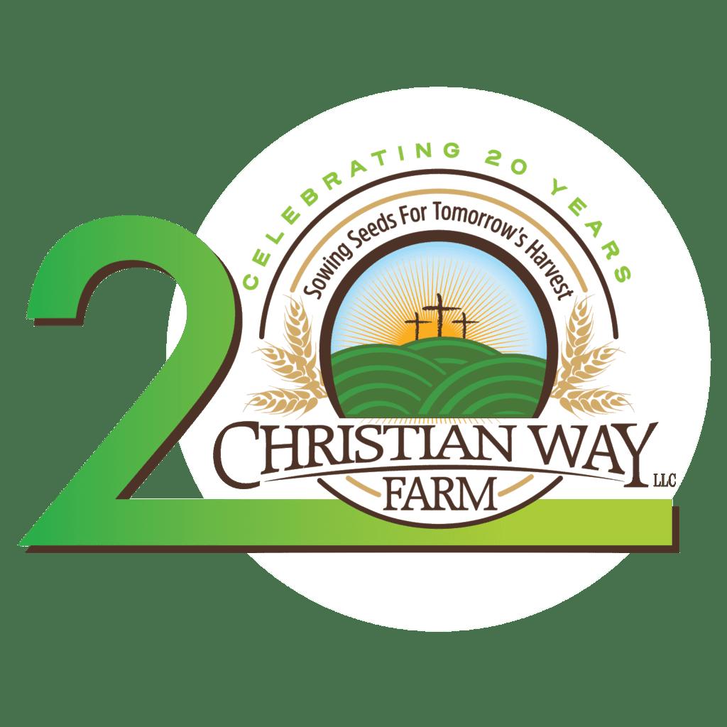 Christian Way Farm 20 Year Logo
