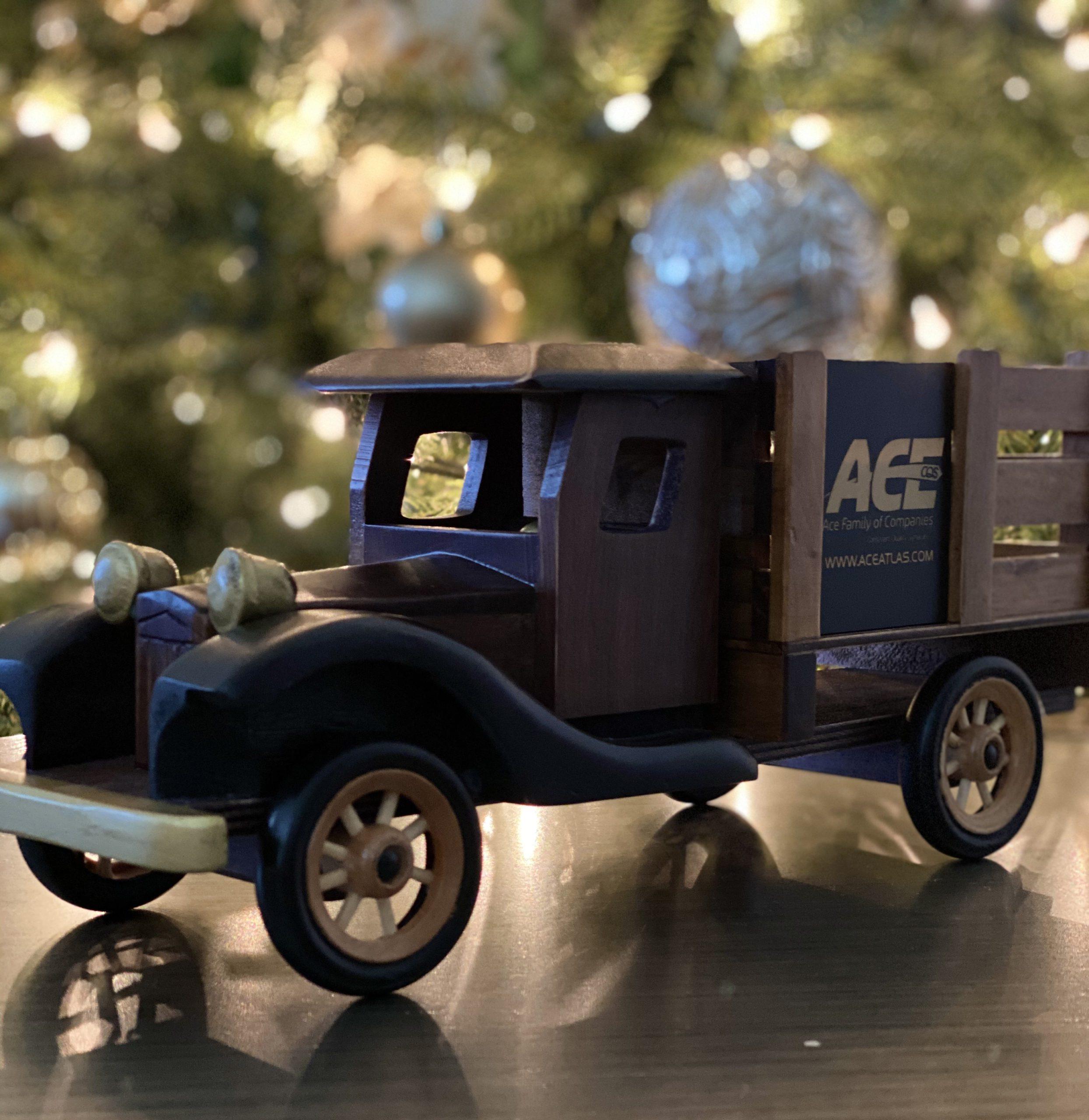 Custom Wooden Truck Branded