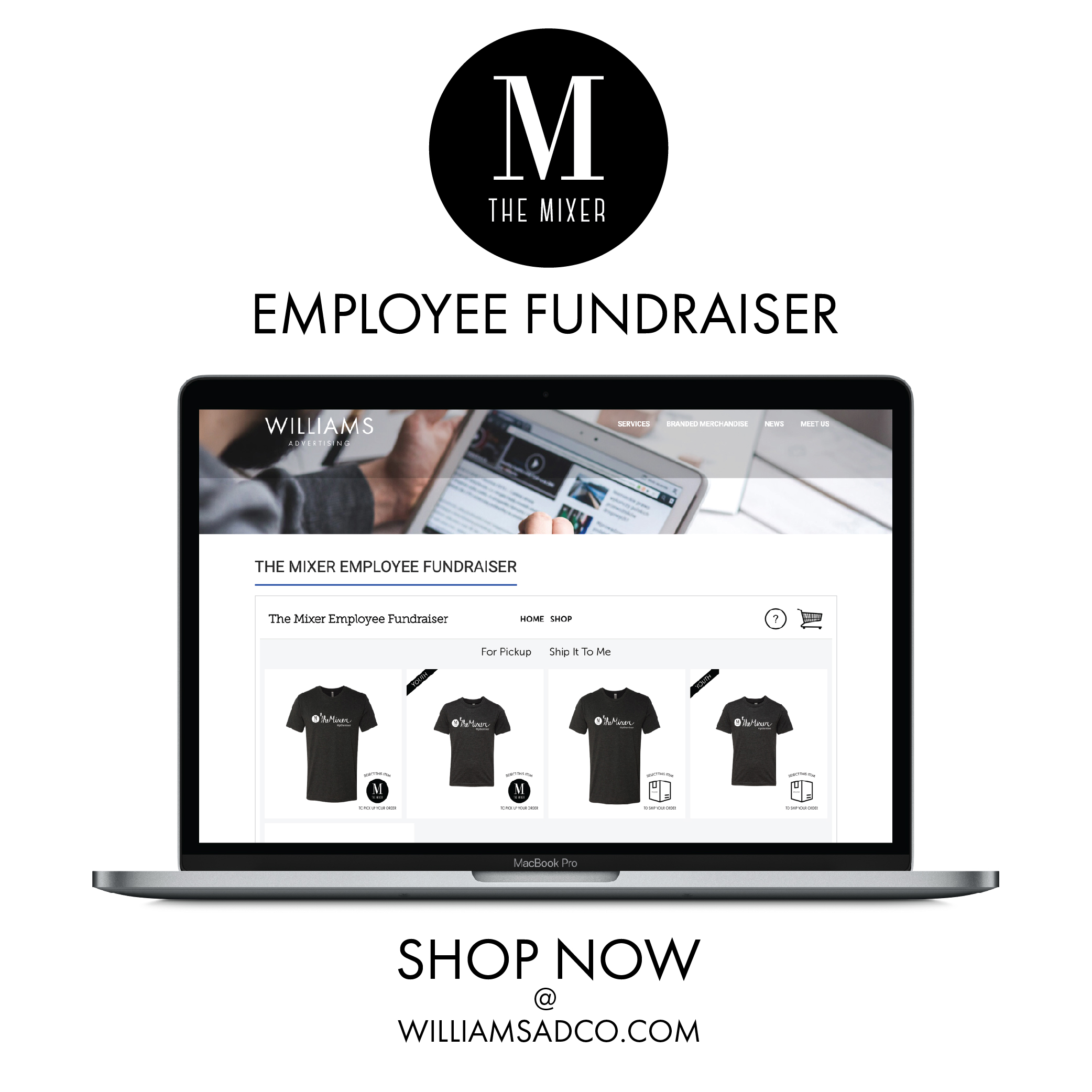 The Mixer Employee Fundraiser Shirts Online Store