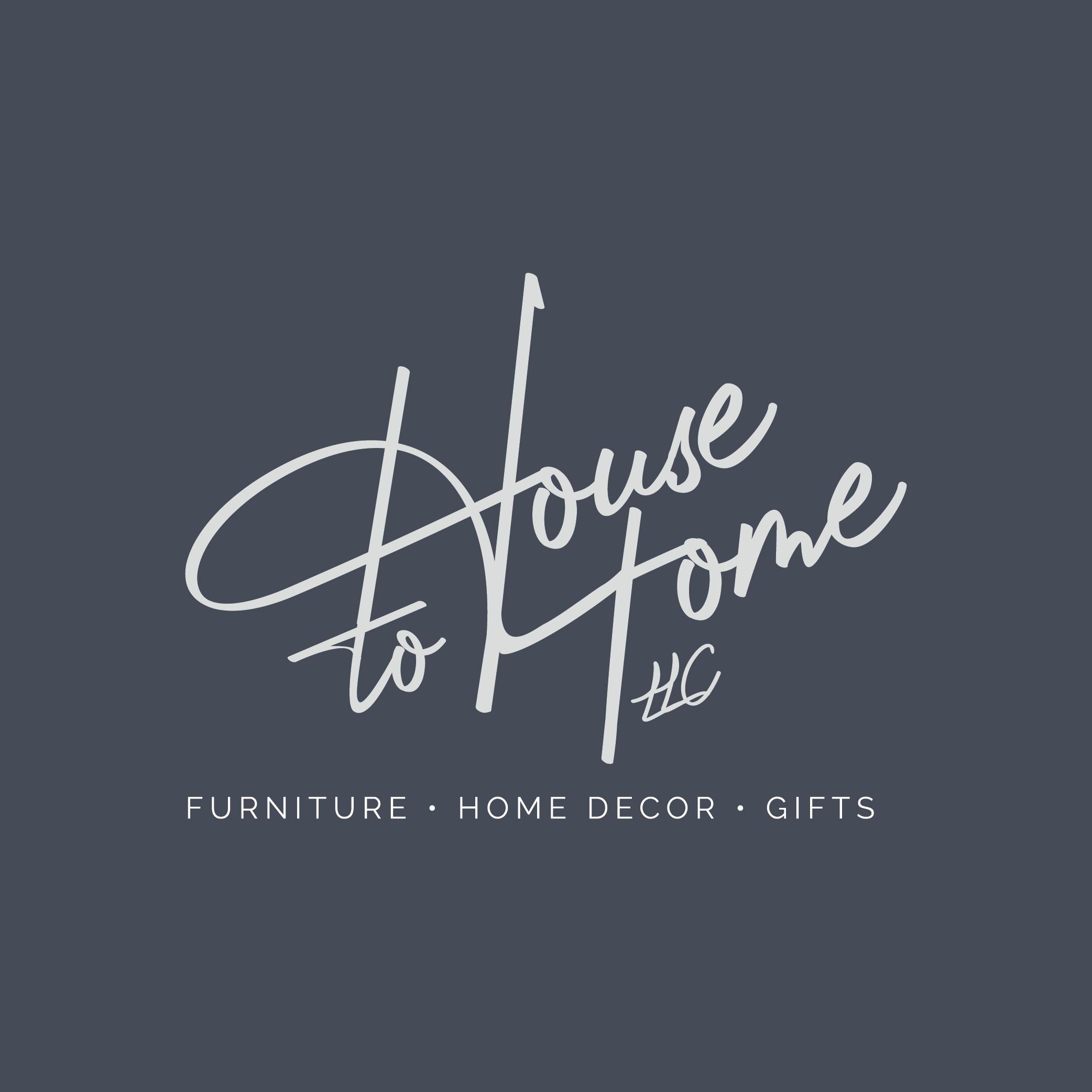 House to Home LLC logo design