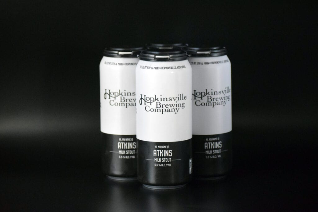 Stout Beer Can Label Design