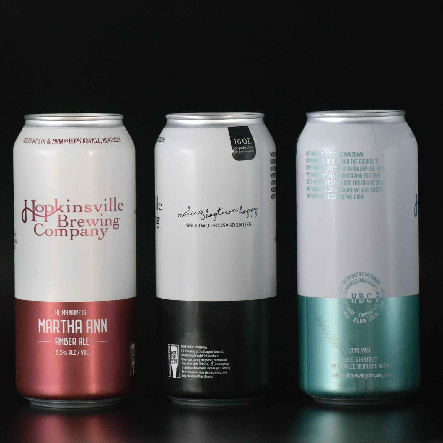 Hopkinsville Brewing Company Can Design